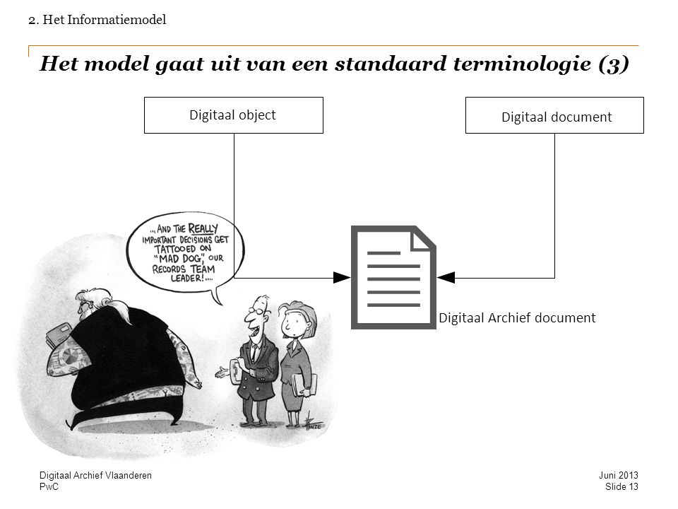 Het model gaat uit van een standaard terminologie (3)