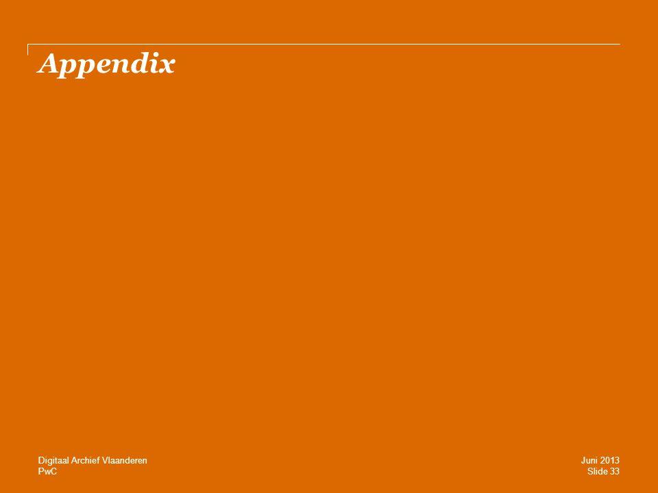 Appendix Digitaal Archief Vlaanderen Juni 2013