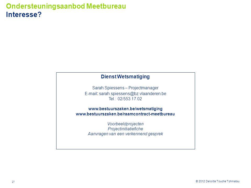Ondersteuningsaanbod Meetbureau Interesse
