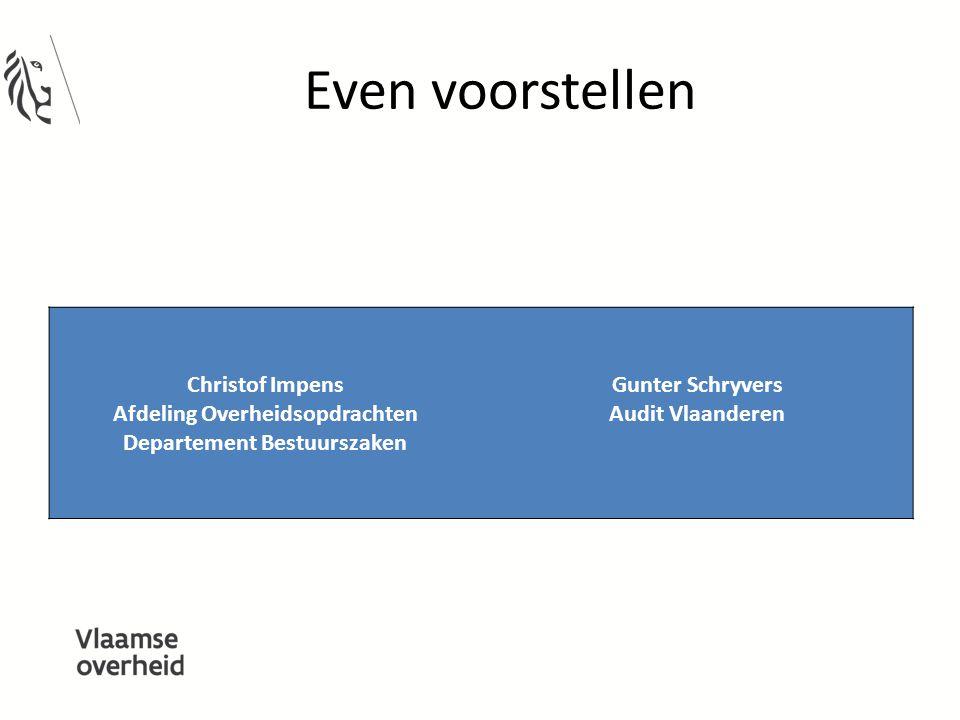 Afdeling Overheidsopdrachten Departement Bestuurszaken