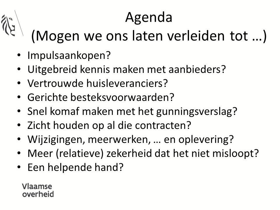 Agenda (Mogen we ons laten verleiden tot …)