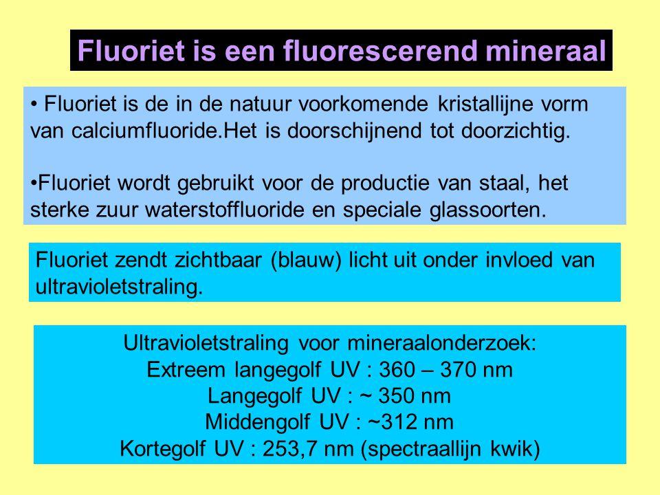 Fluoriet is een fluorescerend mineraal
