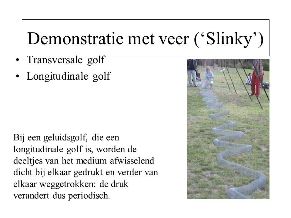 Demonstratie met veer ('Slinky')