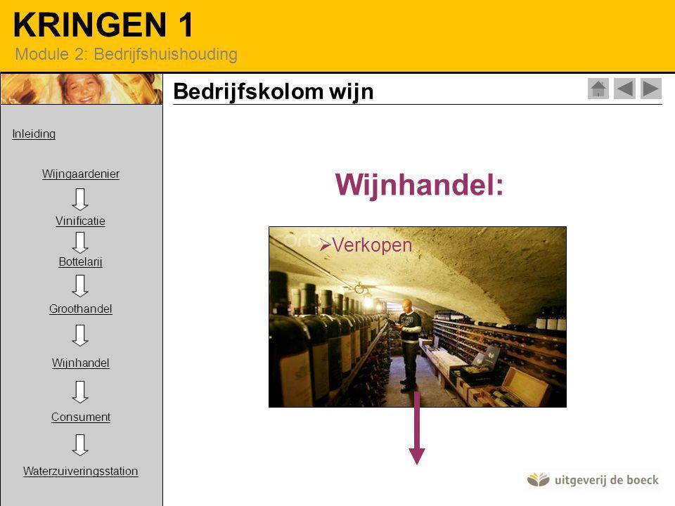 Wijnhandel: Bedrijfskolom wijn Verkopen Inleiding Wijngaardenier