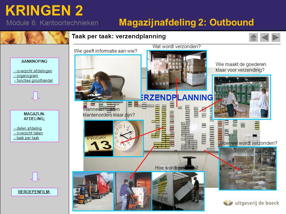 Magazijnafdeling 2: Outbound
