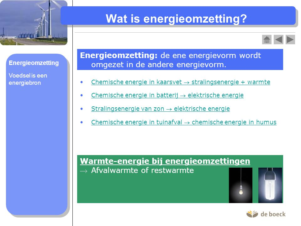 Wat is energieomzetting
