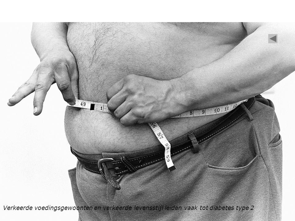 Verkeerde voedingsgewoonten en verkeerde levensstijl leiden vaak tot diabetes type 2