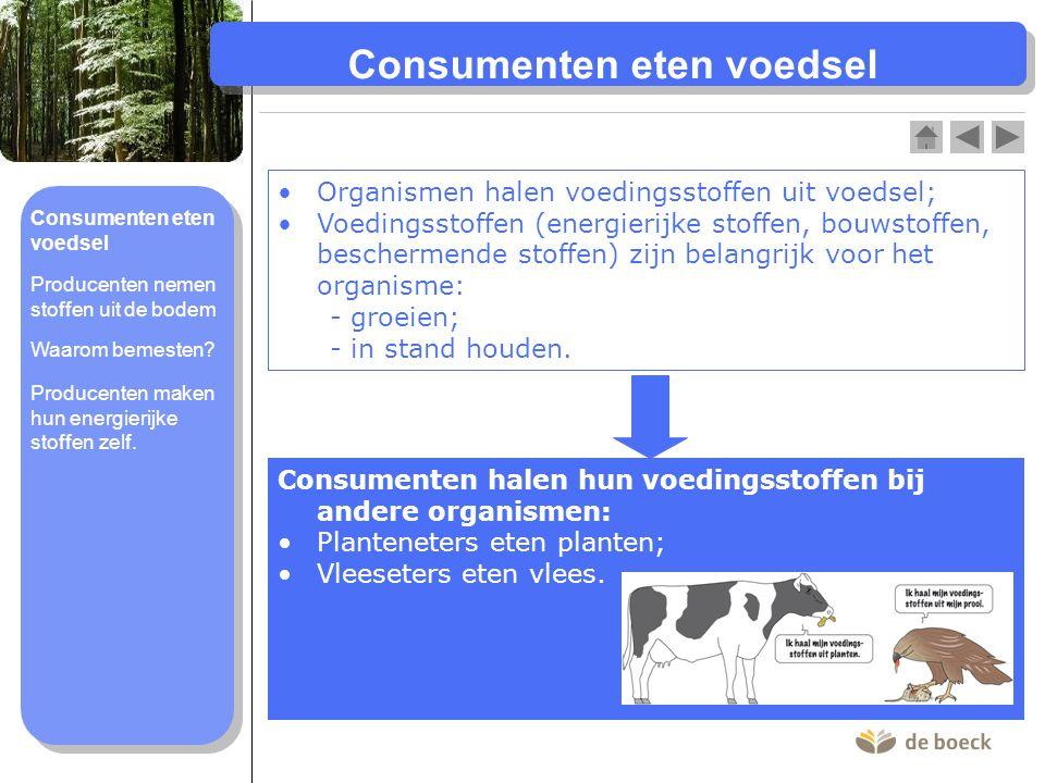 Consumenten eten voedsel