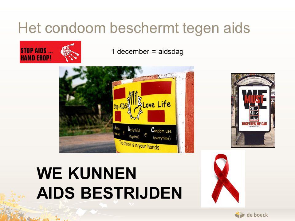 Het condoom beschermt tegen aids