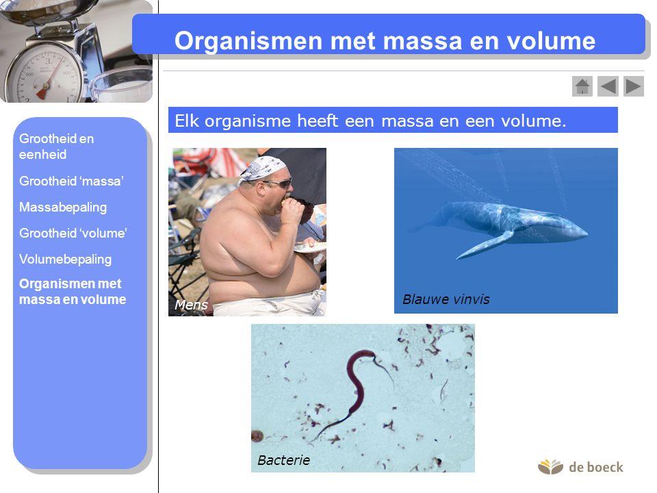 Organismen met massa en volume