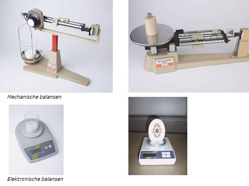 Mechanische balansen Elektronische balansen