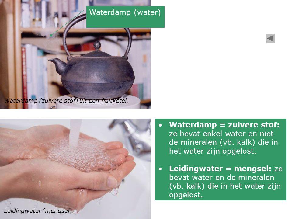 Waterdamp (water) Waterdamp (zuivere stof) uit een fluitketel.