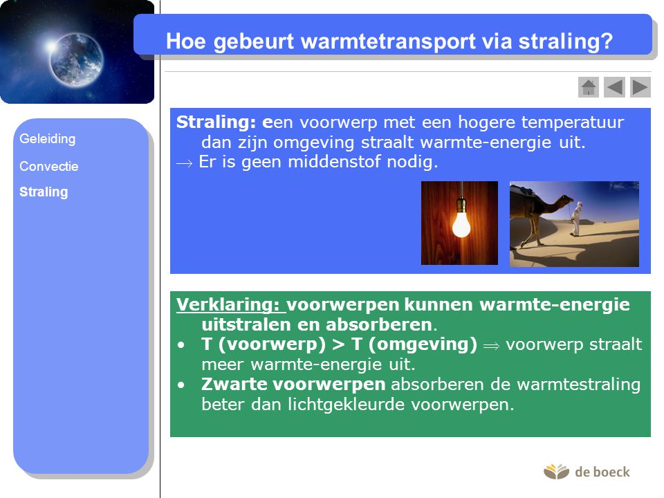 Hoe gebeurt warmtetransport via straling