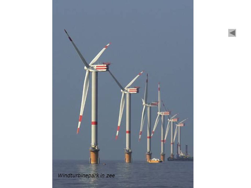 Windturbinepark in zee