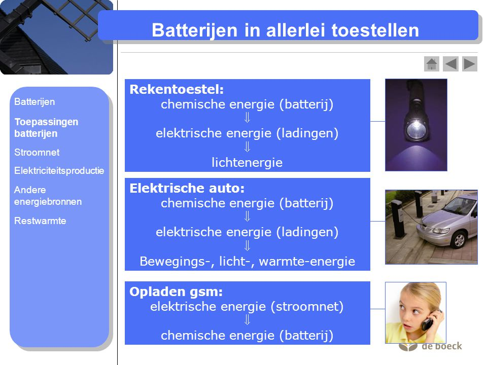 Batterijen in allerlei toestellen