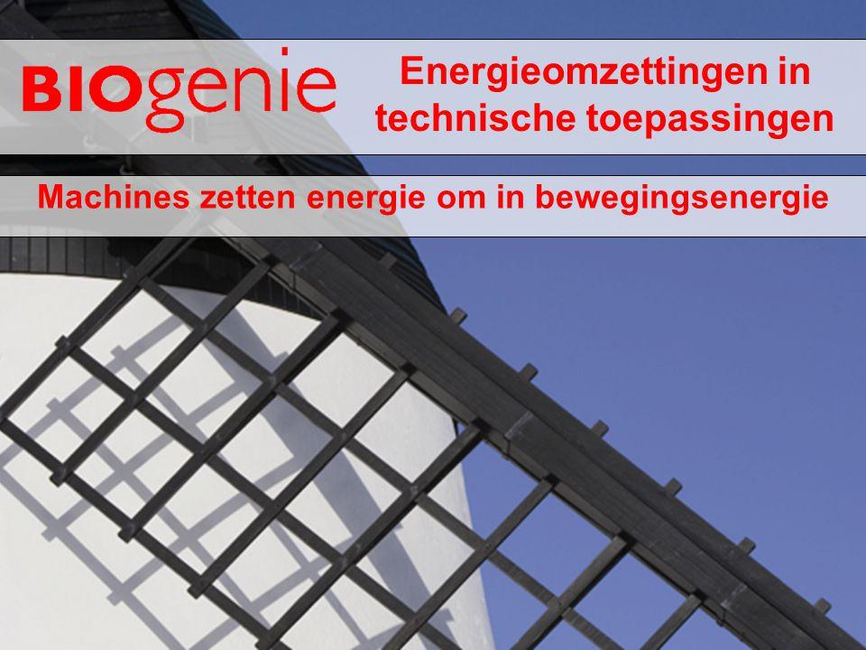 Energieomzettingen in technische toepassingen