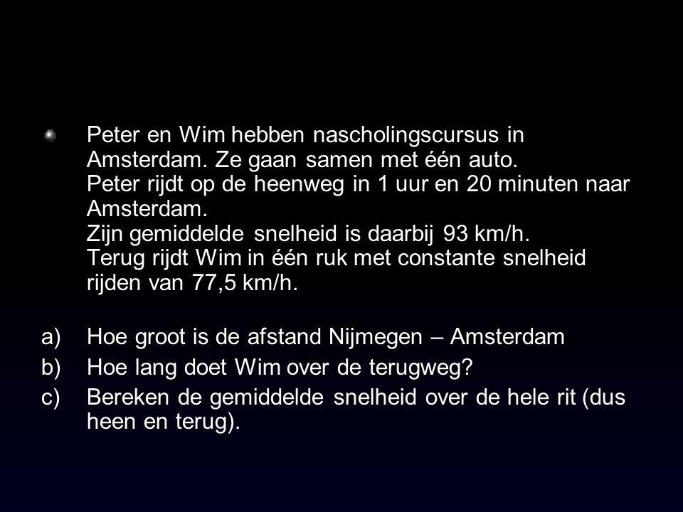 Peter en Wim hebben nascholingscursus in Amsterdam