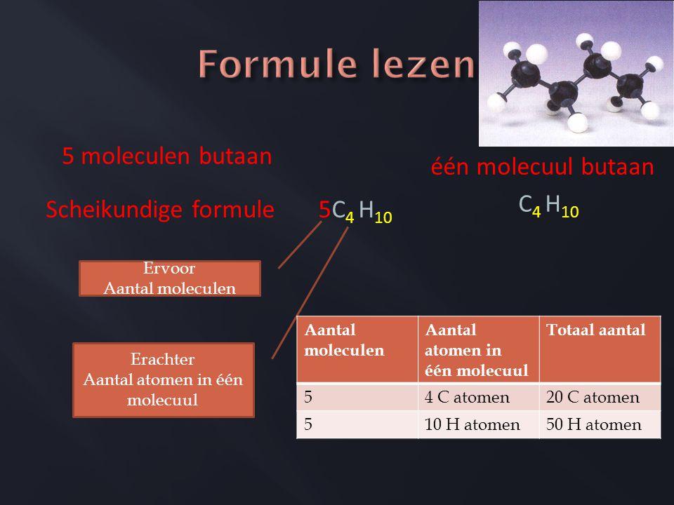 Aantal atomen in één molecuul