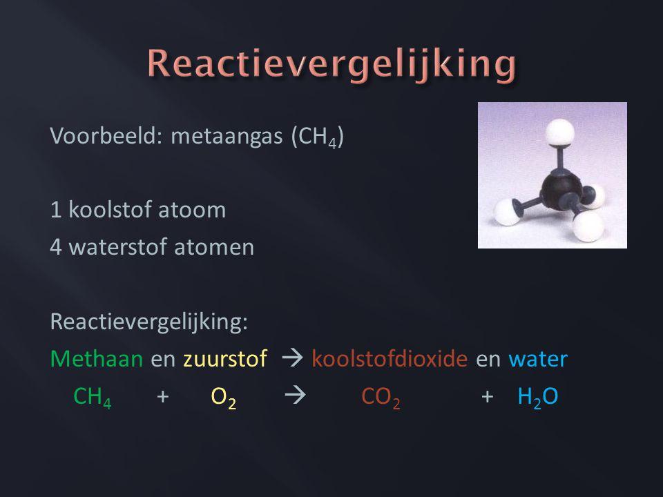 Reactievergelijking