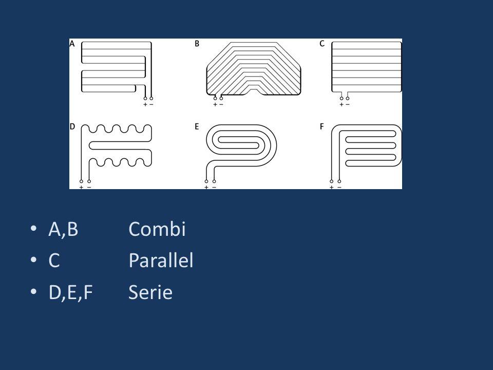 A,B Combi C Parallel D,E,F Serie