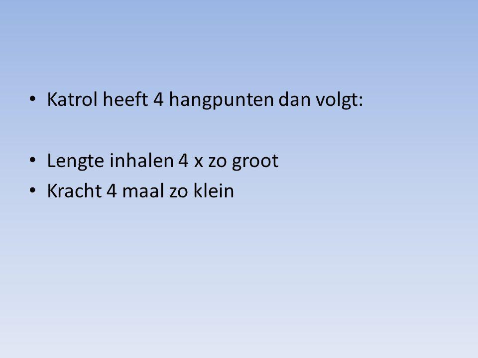 Katrol heeft 4 hangpunten dan volgt: