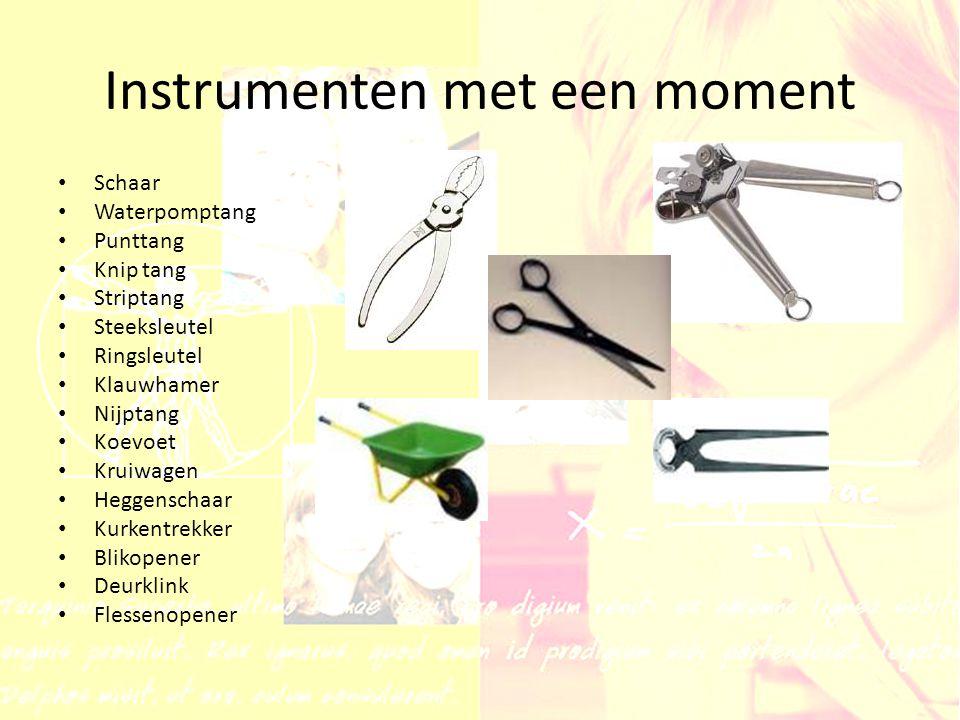 Instrumenten met een moment