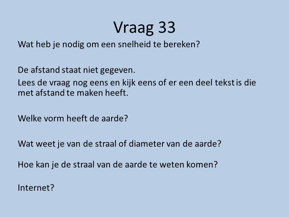 Vraag 33