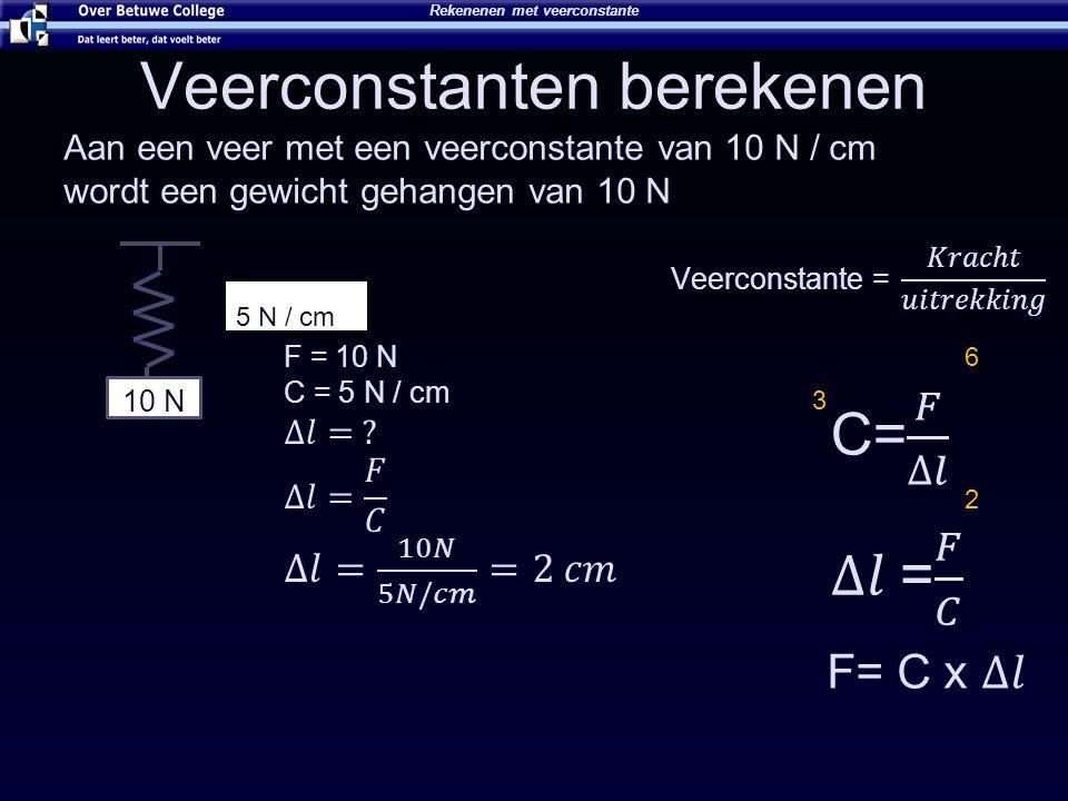 Veerconstanten berekenen