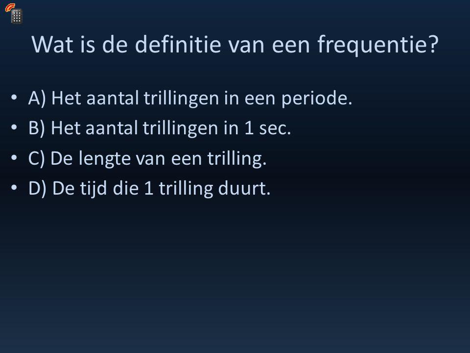 Wat is de definitie van een frequentie