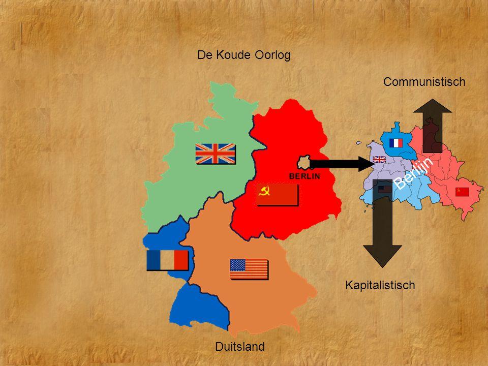De Koude Oorlog Communistisch Berlijn Kapitalistisch Duitsland