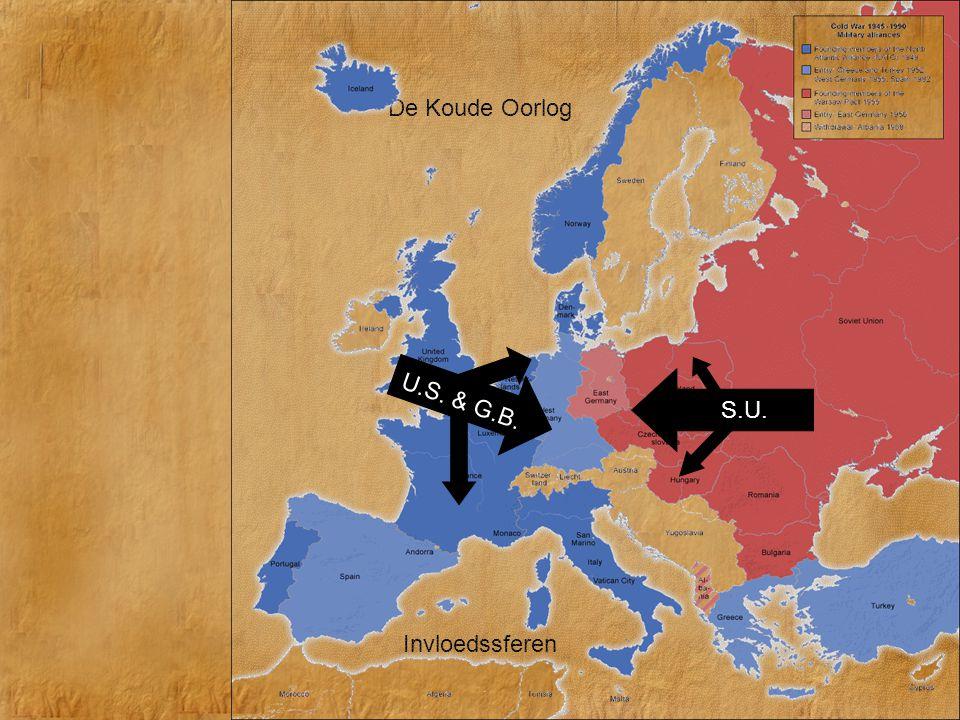 De Koude Oorlog U.S. & G.B. S.U. Invloedssferen