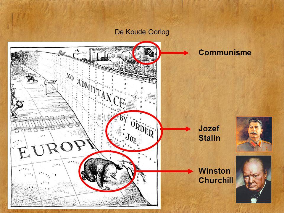 De Koude Oorlog Communisme Jozef Stalin Winston Churchill