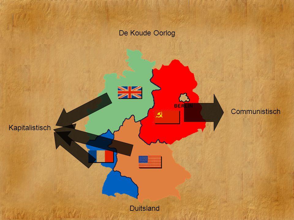 De Koude Oorlog Communistisch Kapitalistisch Duitsland