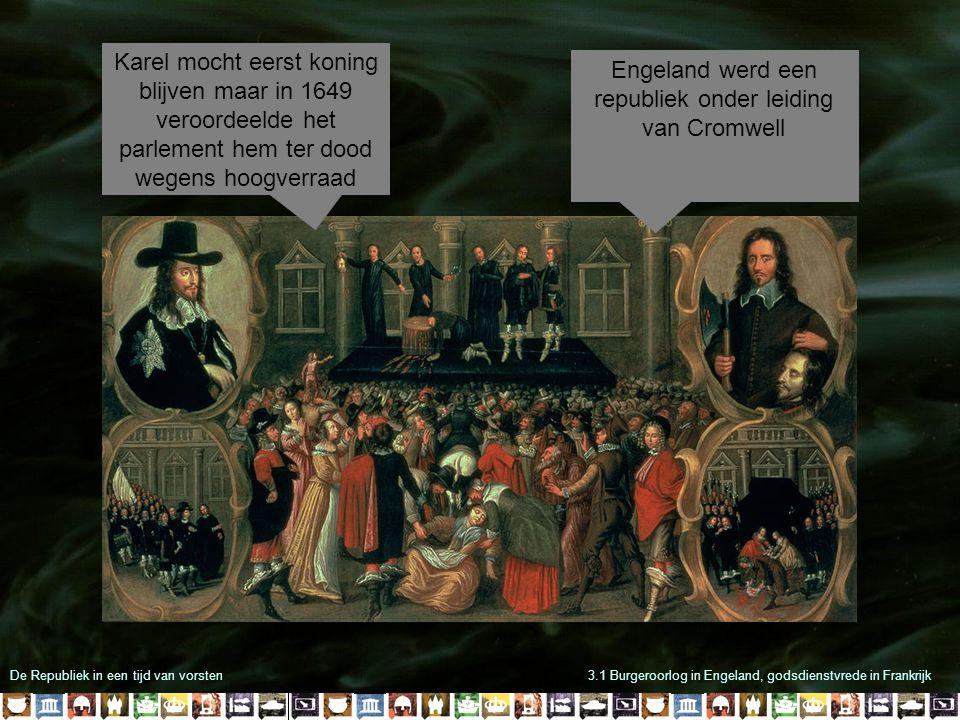 Engeland werd een republiek onder leiding van Cromwell