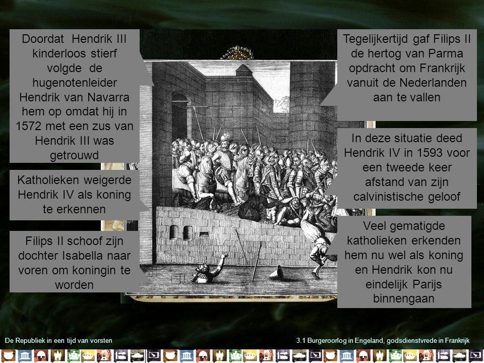 Katholieken weigerde Hendrik IV als koning te erkennen
