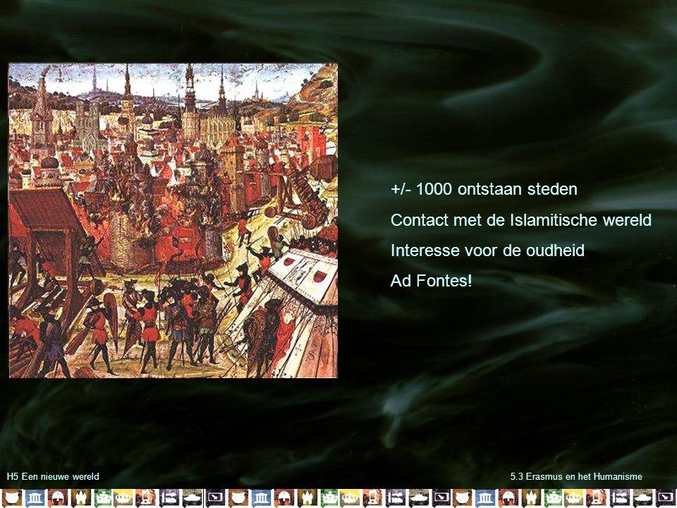 Contact met de Islamitische wereld Interesse voor de oudheid