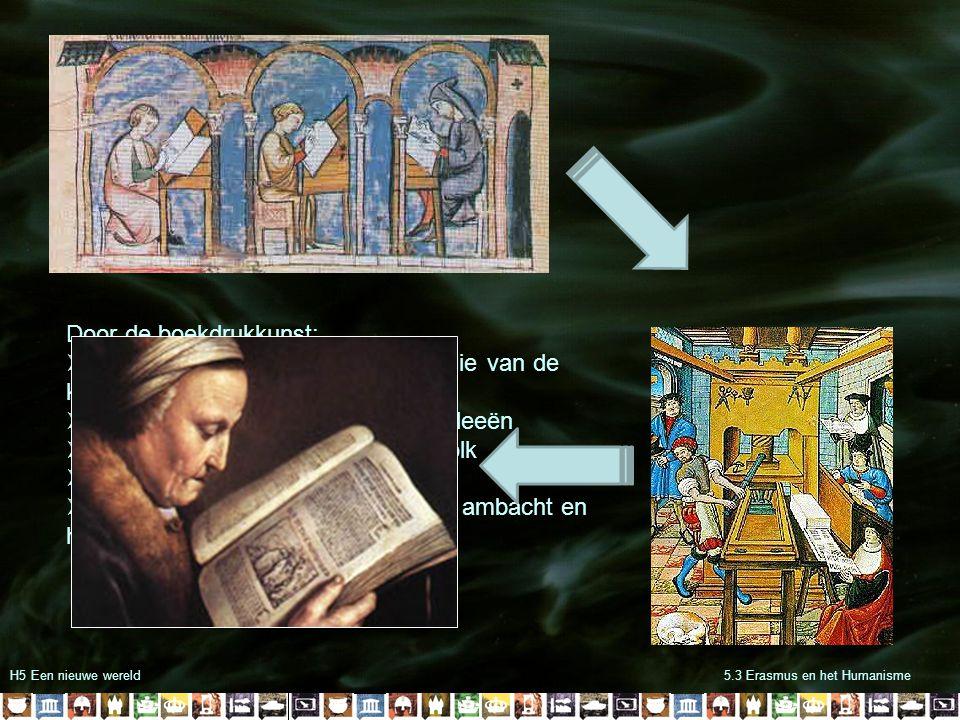 Door de boekdrukkunst: Doorbreking van het kennismonopolie van de kerk