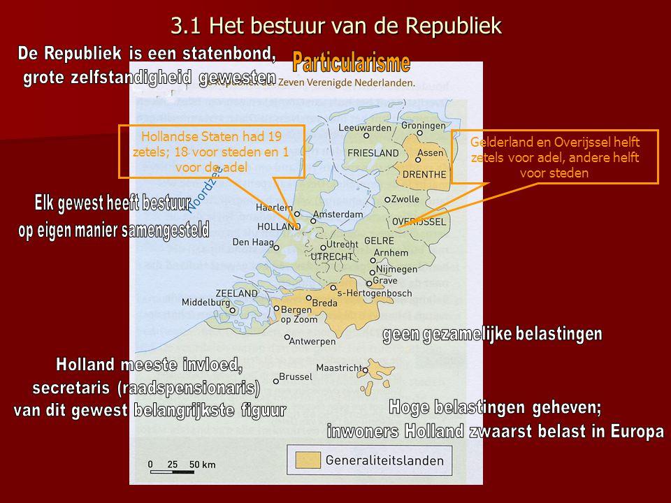 3.1 Het bestuur van de Republiek