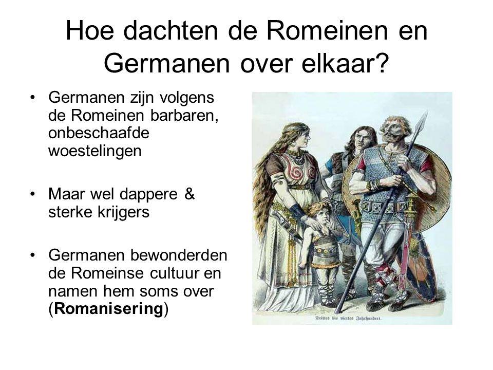 Hoe dachten de Romeinen en Germanen over elkaar