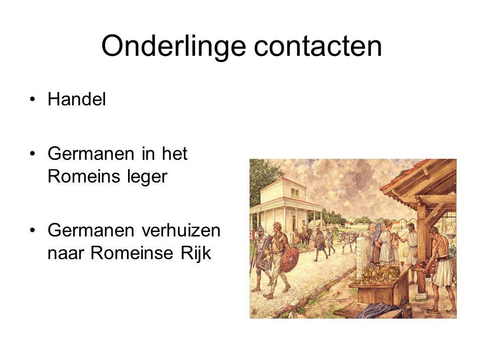 Onderlinge contacten Handel Germanen in het Romeins leger