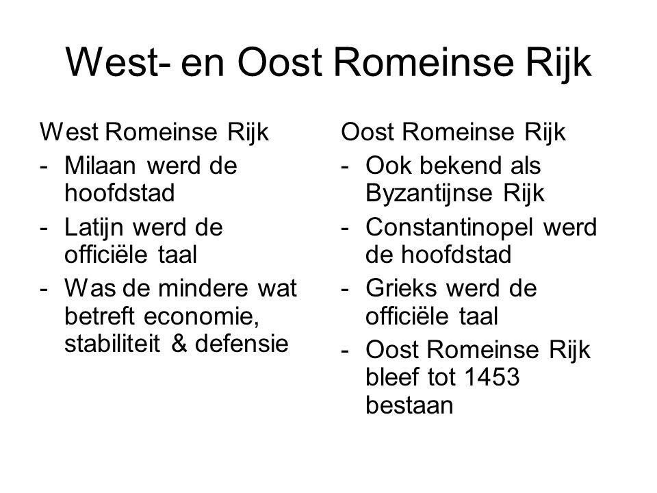 West- en Oost Romeinse Rijk
