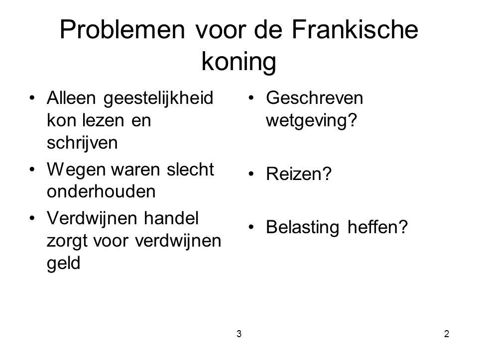 Problemen voor de Frankische koning