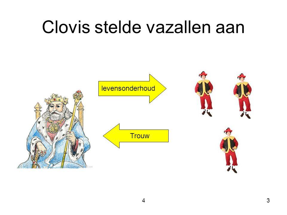 Clovis stelde vazallen aan