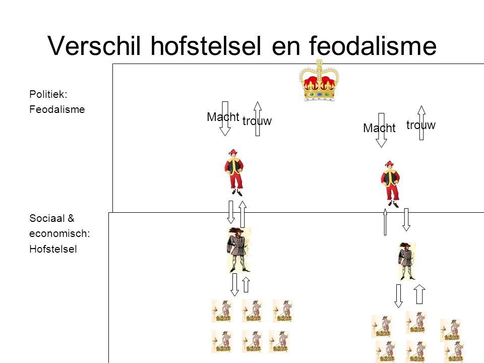 Verschil hofstelsel en feodalisme
