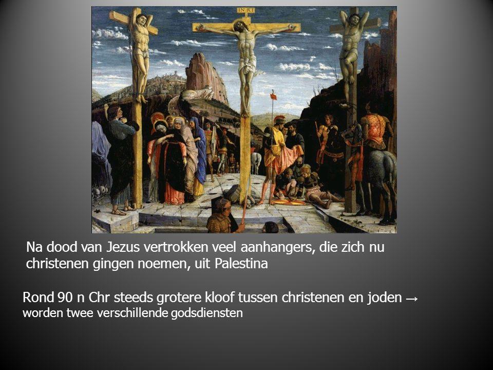 Na dood van Jezus vertrokken veel aanhangers, die zich nu christenen gingen noemen, uit Palestina