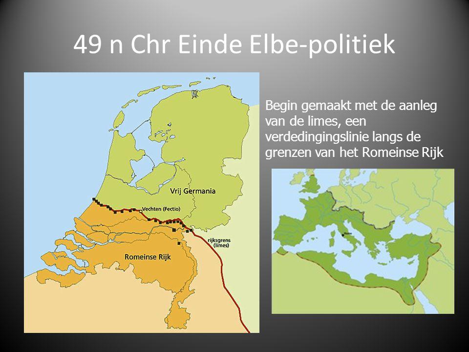 49 n Chr Einde Elbe-politiek