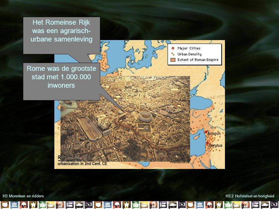 Het Romeinse Rijk was een agrarisch-urbane samenleving