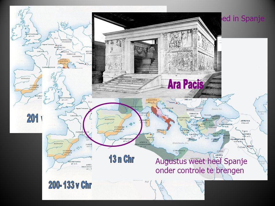 Uitbreiding Romeinse invloed in Spanje