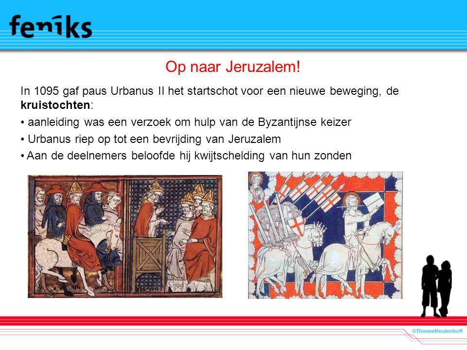 Op naar Jeruzalem! In 1095 gaf paus Urbanus II het startschot voor een nieuwe beweging, de kruistochten: