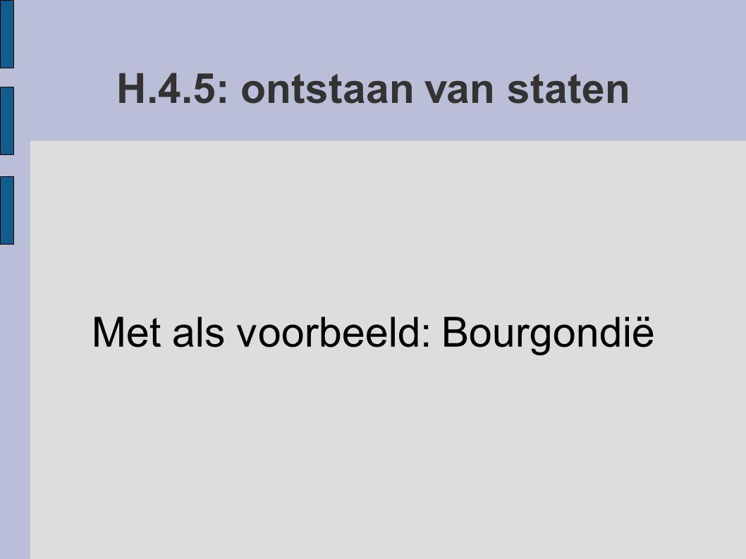 Met als voorbeeld: Bourgondië